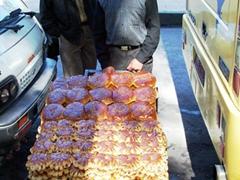 Sugary treats for sale, Damascus street vendors