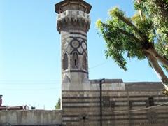 The circa 1488 octagon shaped Minaret of Qaitbay, the west minaret of Umayyad Mosque