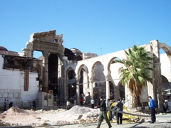 Temple of Jupiter gateway to Al-Hamidiyah Souq, Damascus