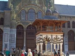 Courtyard view of the circa 705 AD Umayyad Mosque