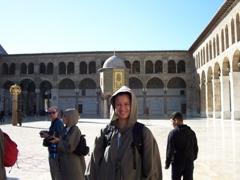 Becky at Umayyad Mosque, Damascus