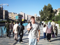 Robby on the busy streets of Damascus