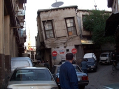 Crooked house in old Damascus