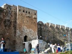 Entrance to Krak des Chevaliers crusader castle