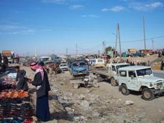 Street scene on market day