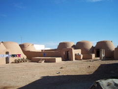 Mud built beehive village, Halabiyyeh suburbs