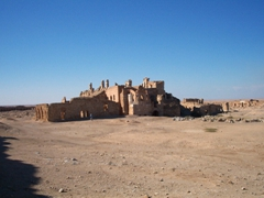 View of St. Sergius Basilica complex in Resafa, a Syrian ghost town