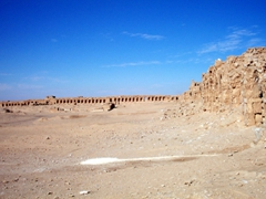 View of Resafa ruins, the walls of which are over 1600 feet in length and 1100 feet in width