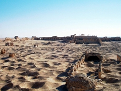 The now ruined city of Resafa flourished in its heyday, serving as as a major stop on the caravan routes linking Palmyra, Aleppo & Dura Europs