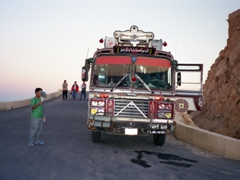 To get to Fakhr-al-Din al-Ma'ani Castle, we had to ride local transport up the steep hill side; Palmyra
