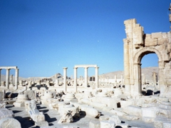 View of Palmyra as seen from the Arch of Triumph