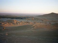 One final view of Palmyra during sunset