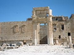The great temple of Ba'al (Bel) was considered one of the most important regligious structures in the 1st century AD