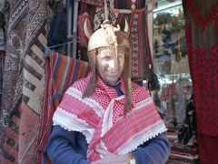 Trying on some souvenirs for size; Palmyra