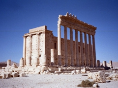 Temple of Bel, cella and columns; Palmyra
