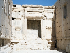 Temple of Bel (interior of cella, view to the north); Palmyra