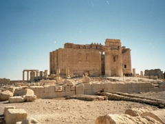 Yet another view of the wonderfully preserved Temple of Bel; Palmyra