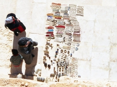 Jewelry for sale at the Valley of the Tombs; Palmyra