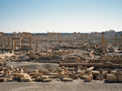 The sprawling ruins of ancient Palmyra