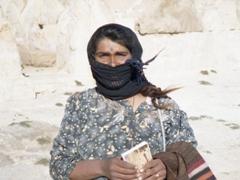 A friendly Bedouin woman; Palmyra