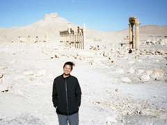 Becky strikes a pose in stunning Palmyra