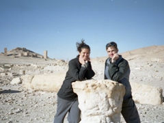 Our Valley of the Tombs pose; Palmyra