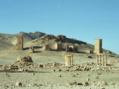 One final glimpse of the Valley of the Tombs; Palmyra