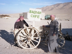 Robby at the Bagdad Cafe, Syria's ultimate backpacker cafe!
