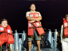 Paulo giving us a safety briefing on board the Humboldt Explorer