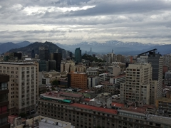 View of Santiago from our city center apartment