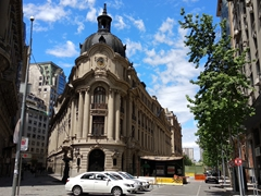 Santiago Stock Exchange located on La Bolsa Street