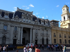 Two handsome buildings on the Plaza de Armas - the central post office next to the national history museum