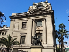 Exterior of the national library of Chile