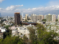 View of Santiago from the Hidalgo Castle; Santa Lucia Hill