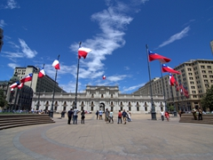 Plaza de la Constitución, considered the heart of Santiago's civic district