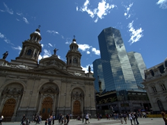 The Metropolitan Cathedral of Santiago; Plaza de Armas
