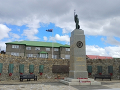 1982 Liberation Memorial built to commemorate the British soldiers who liberated the Falkland islanders from the Argentine military occupation in 1982