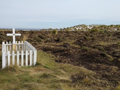 Grave; Sea Lion Island