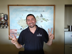 Francisco, our friendly Chilean waiter at Sea Lion Lodge