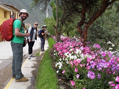 It is an easy 10 minute walk from our hostel to the train station at Ollantaytambo
