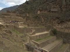 The Incan Fortress of Ollantaytambo was built in the 15th Century - it is considered Peru's second most well-preserved ruin