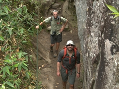 Robby and John about to tackle Huayna Picchu mountain