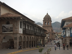 View from Cusco's main square towards the Church and Convent of Our Lady of Mercy