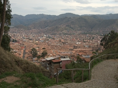 View of Cusco on our walk down from Sacsayhuamán