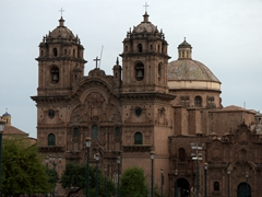 Church of the Society of Jesus, a Jesuit church in Cusco at Plaza de Armas
