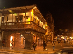 Plaza de Armas at night