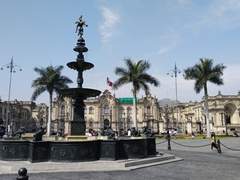 Lima's plaza mayor with Presidential palace in the background