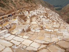 Maras salt evaporation ponds