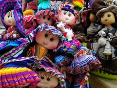 Dolls for sale; Ollantaytambo market
