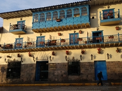 Building in the early morning light; Cusco